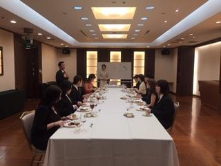 大阪江坂のホテルで今年も「テーブルマナー講座」を実施しました